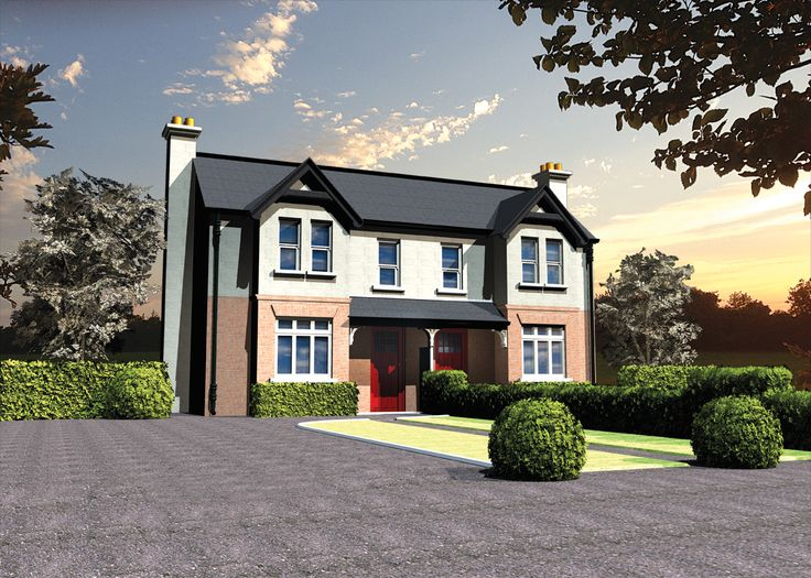 A 3D illustration of Avonburne victorian townhouse, in Louth, Ireland