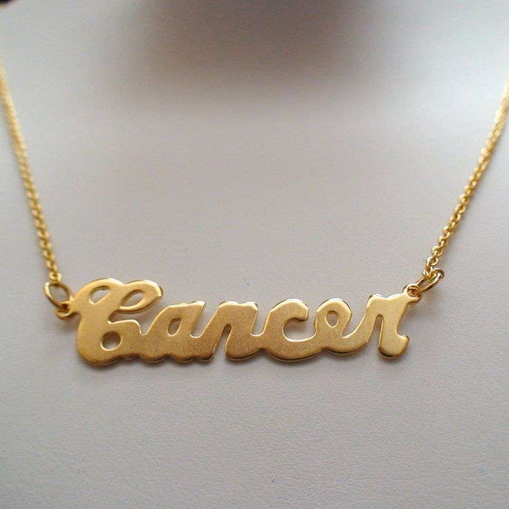 FashionJunkie4Life - Gold Cancer Horoscope Necklace