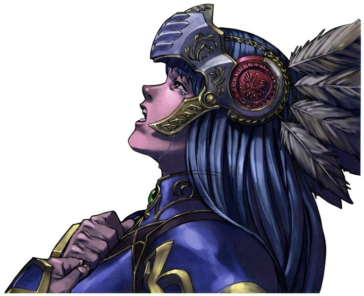 Lenneth Crying Portrait - Characters & Art - Valkyrie Profile