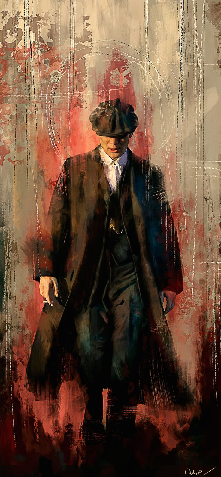 'On a gathering storm comes a tall handsome man in a dusty black coat with a red right hand'