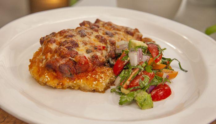 Mexican Turkey Parmigiana