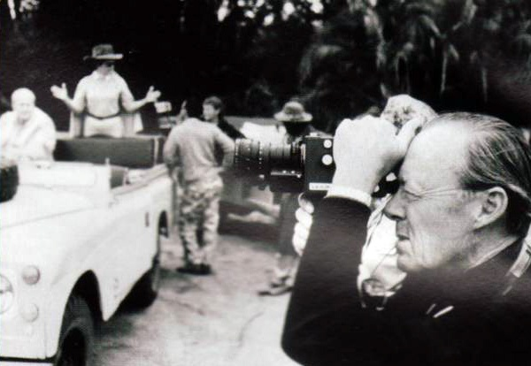 Prince Bernhard of the Netherlands, founder the World Wildlife Fun in the 1970s, uses his Leicina Special during a safari.