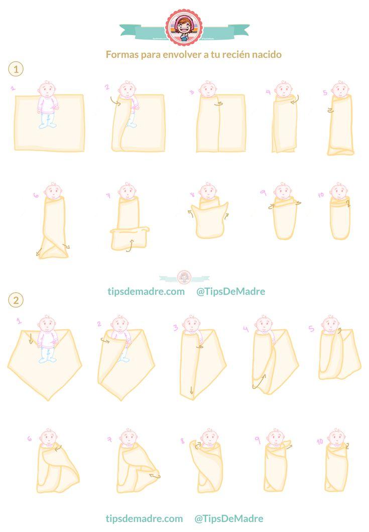 ¿Cómo envolver a un recién nacido? 2 formas por #tipsdemadre http://tipsdemadre.com/como-envolver-a-un-recien-nacido/