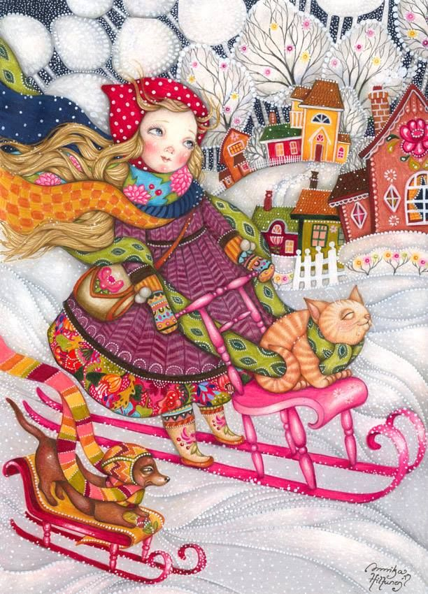"Christmas-""Vauhdin hurmaa"" (The Thrill of Speed) by Naivisti Annika Hiltunen"