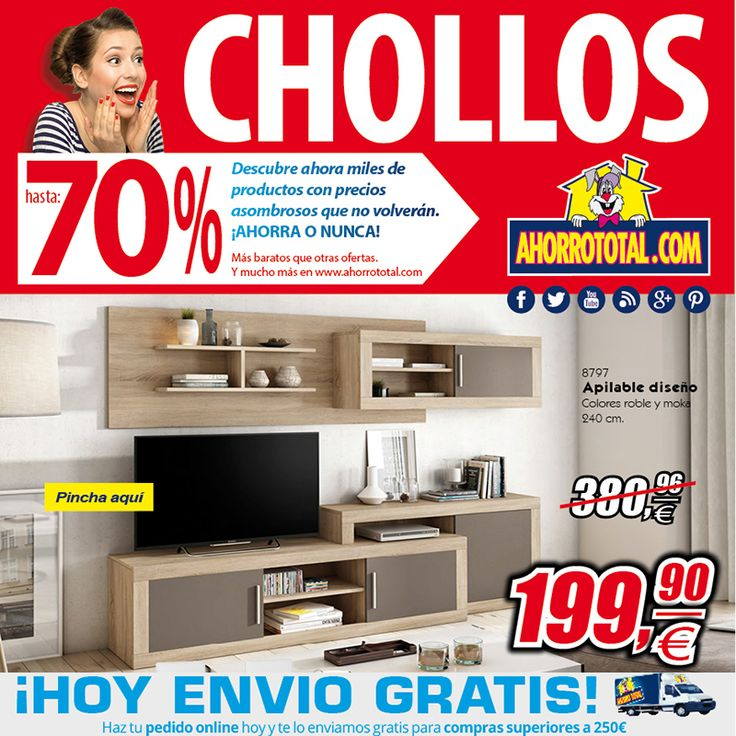 Nuevos Chollos!!! Amuebla tu comedor por menos de 300€ con Portes Gratis!!!  http://www.ahorrototal.com/newsletter/at-news-23feb17.html  #muebles #chollos #ahorraonunca