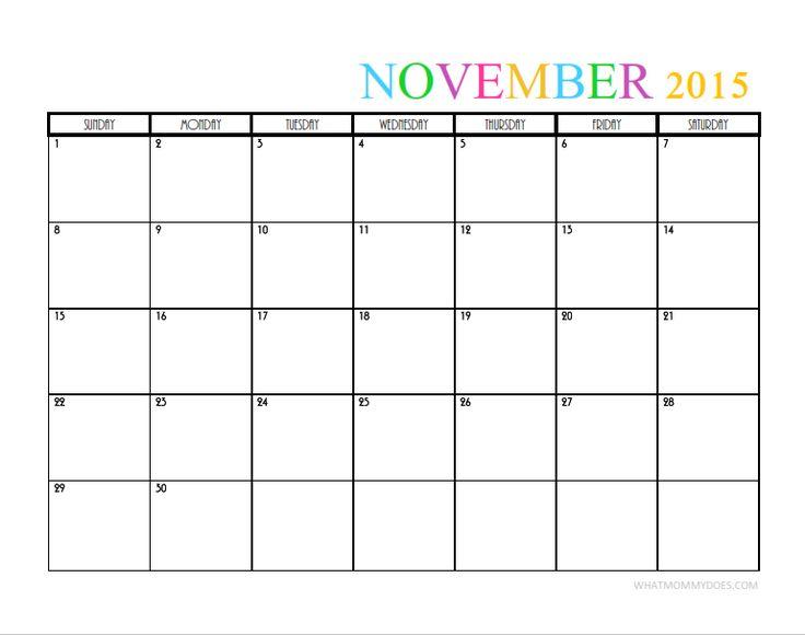 Blank November Calendar Cute : Best ideas about blank calendar template on