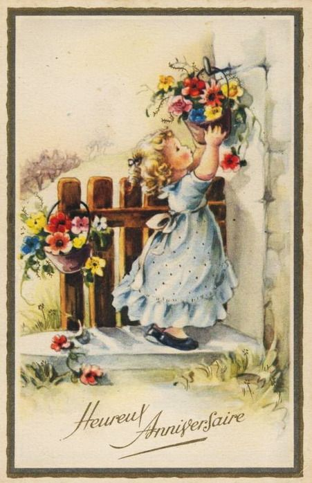 дореволюционные открытки с днем рождения - Поиск в Google