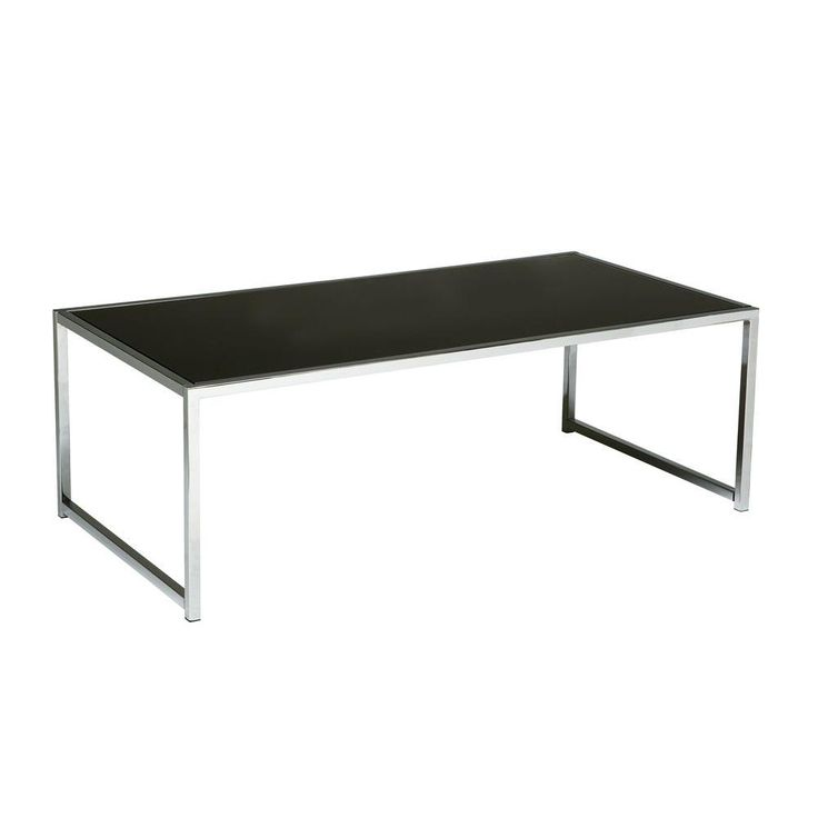 yield chrome and black glass coffee table greyblack glass