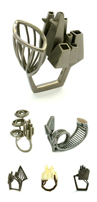 Nicole Schuster / François Azambourg / Pippin Blackwell - The Carrotbox Jewelry Blog - rings, rings, rings!