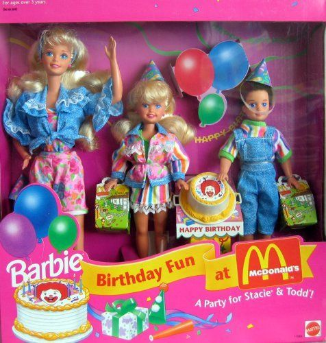 Barbie Birthday Fun At McDonald's Gift Set A Party For