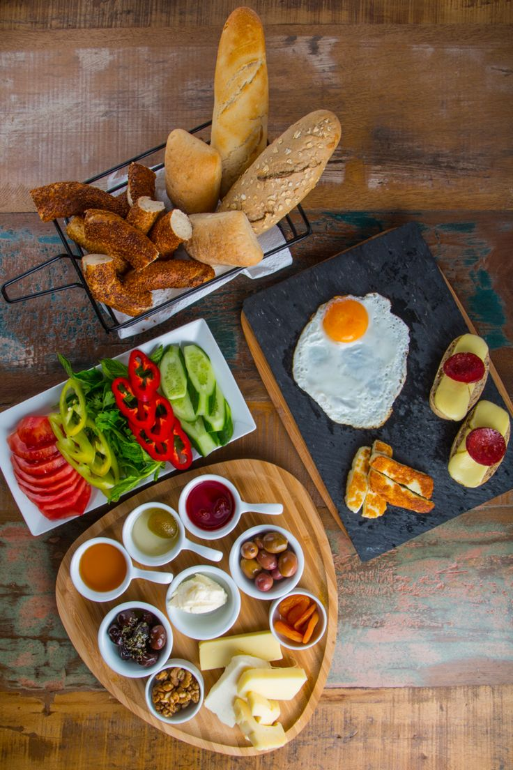 A tabletop view of a traditional Turkish Sunday breakfast with a modern styling - June 2015