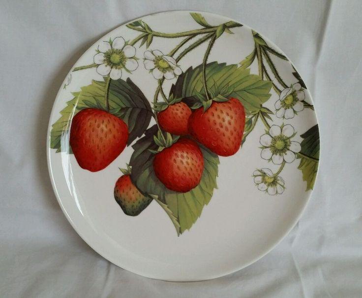 NEW PORTMEIRION Eden Collection 10.5  White Dinner Plate Fruit Blossom Botanical