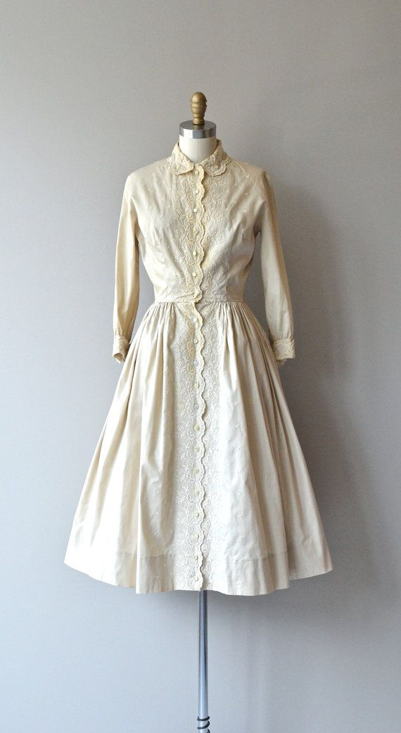 Milk and Honey dress vintage 1950s dress 50s by DearGolden
