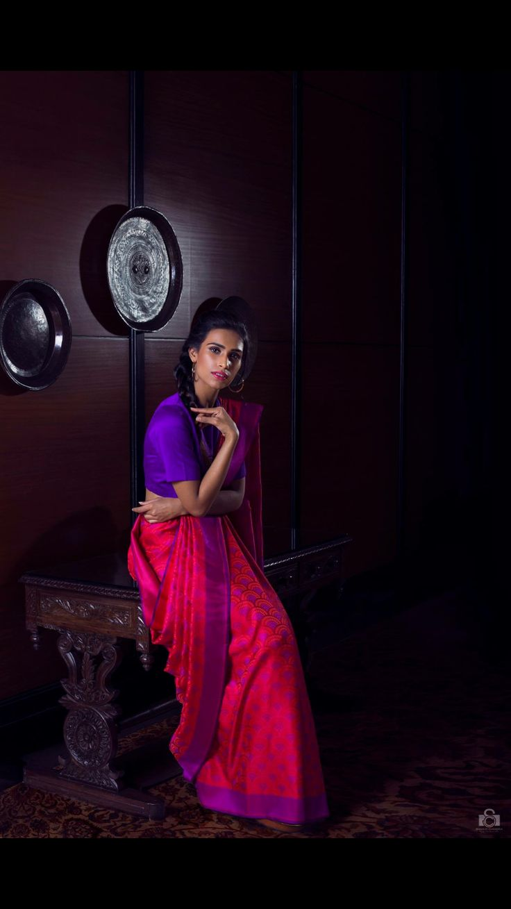 Pure and Simple. This elegant weave in handcrafted and designed at Vidhi Singhania.
