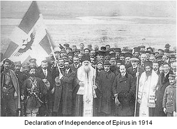 Greeks of Northern Epirus declares ther independence of Northern Epirus