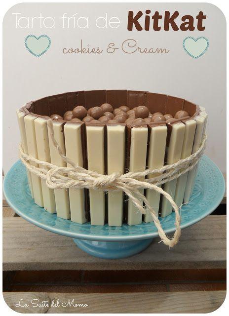 La Suite del momo: Tarta fría de KitKat Cookies (Receta)
