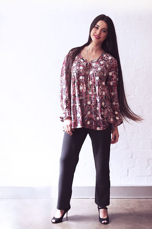 Daisy Top in New Havali Print http://cakeclothing.net/collections/winter-15/products/daisy-smocked-top