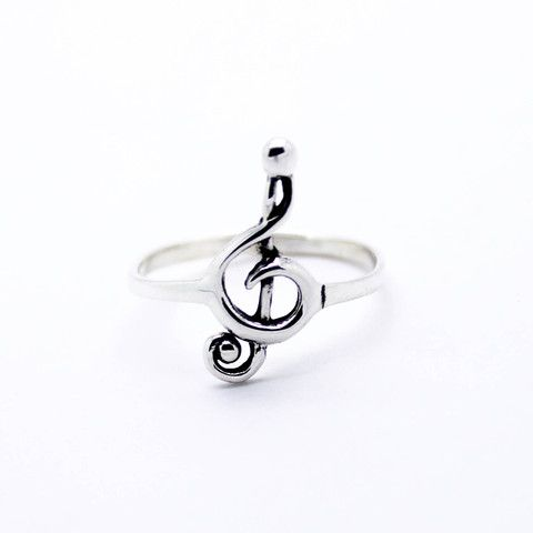 Clef note sterling silver ring – Imsmistyle.
