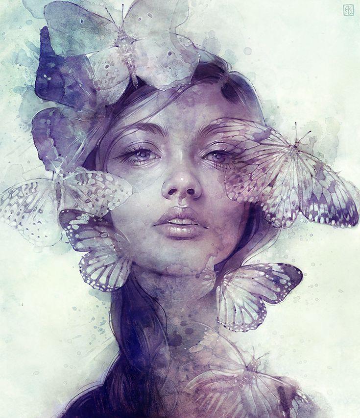Anna Dittmann - Empty Kingdom - Art Blog. Visage aux papillons * Dremm e valafennoù