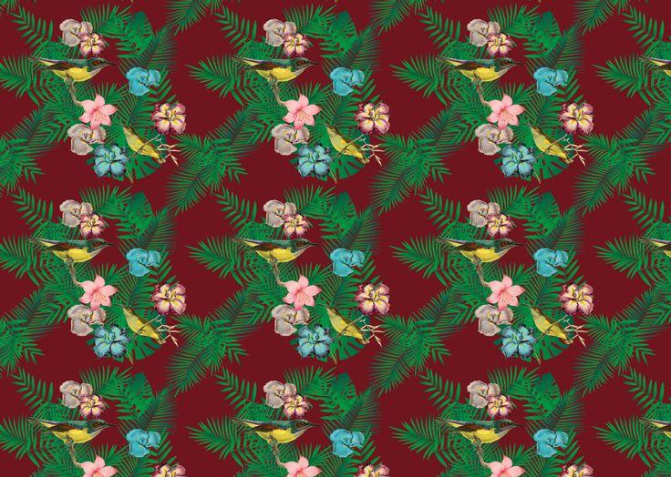 Birds of paradise, pattern. itrynottothink.com