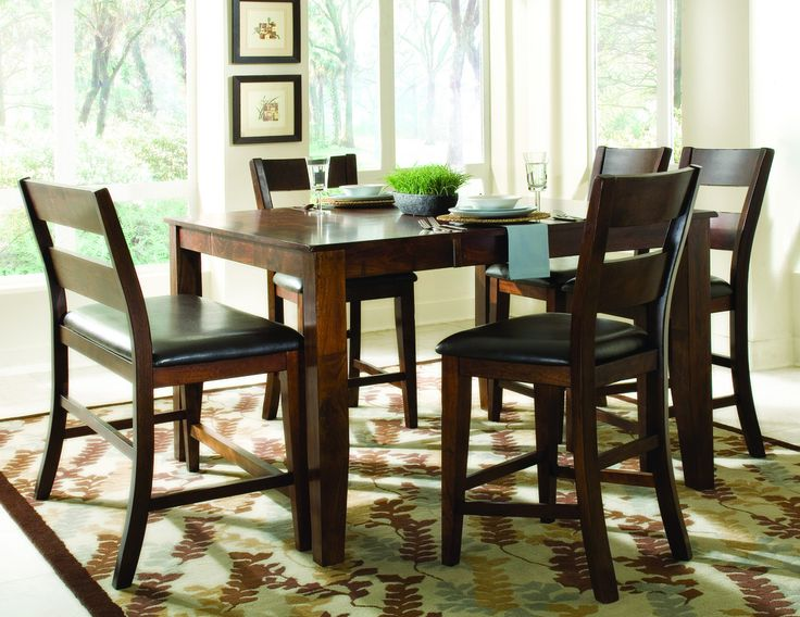 pub dining set with leaf. pub height dining table rectangular