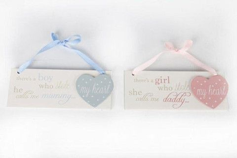 Wooden Baby Plaque - Amour Decor