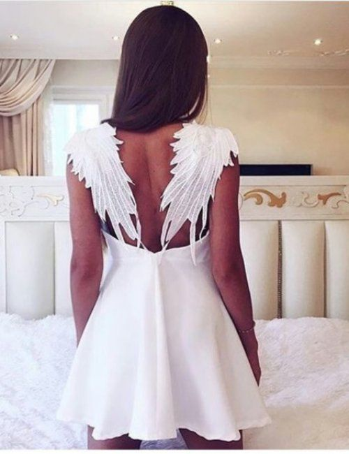 Wings Back Angel Dress
