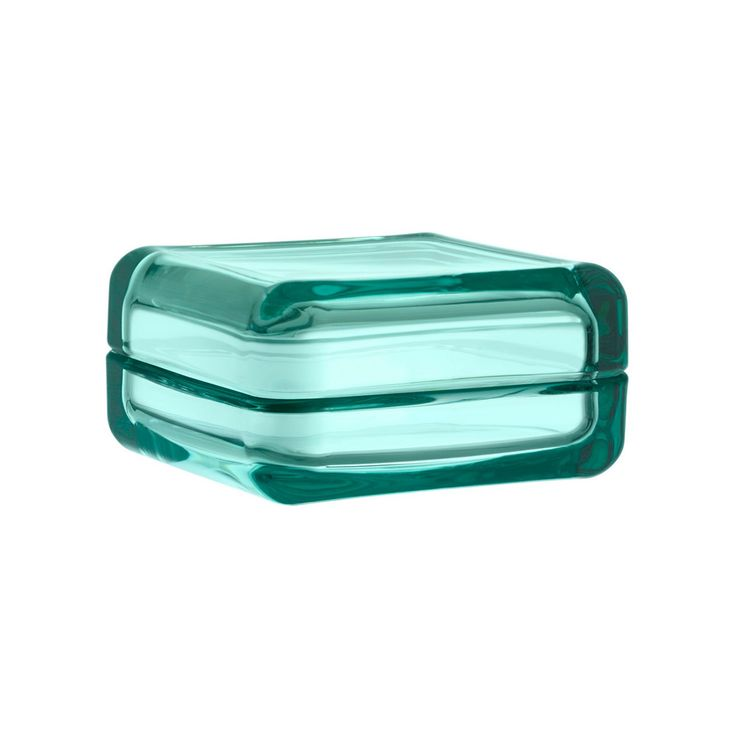 Iittala Vitriini Glass Box Water Green 108x108mm. Consider them your own colourful showcases.