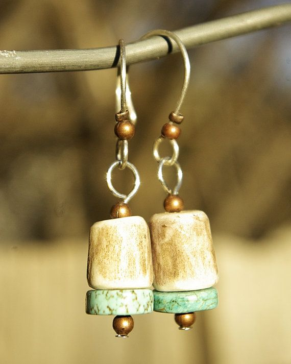 elk tribe antler bell earrings with by WomanOnWildMountain