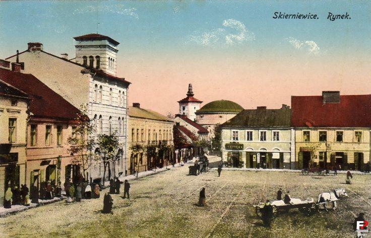 Rynek, Skierniewice - 1917 rok, stare zdjęcia