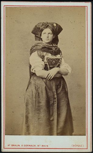 Girl in alsatian folk dress by Adolphe Braun