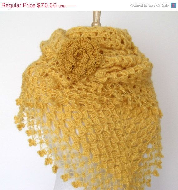 ON SALE MIMOSA Yellow Bridal Cashmere Mohair by knittingshop