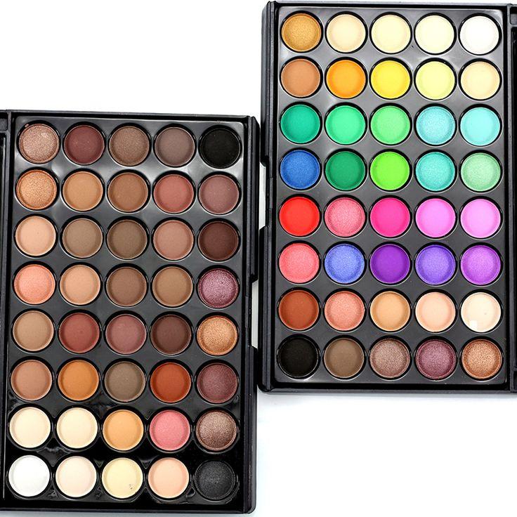 Profesional Merek Makeup Banyak Glitter Matte Eyeshadow 40 warna Bronzer Tahan Air Nude Naked Palette Mata Kosmetik