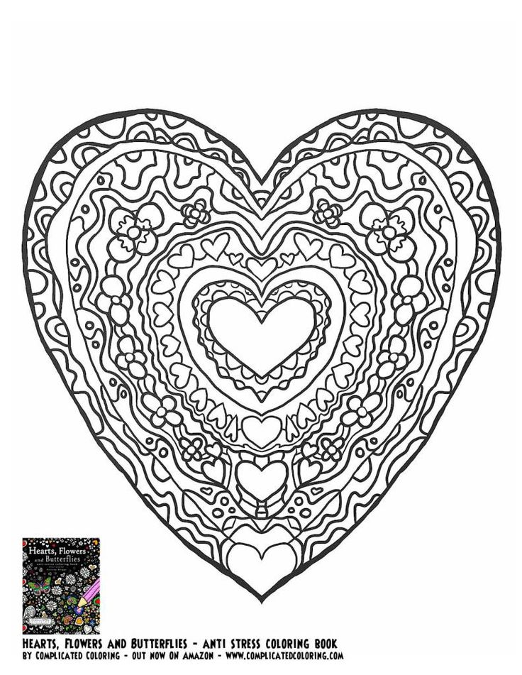 363 best Adult ColouringHeartsLove Zentangles images on