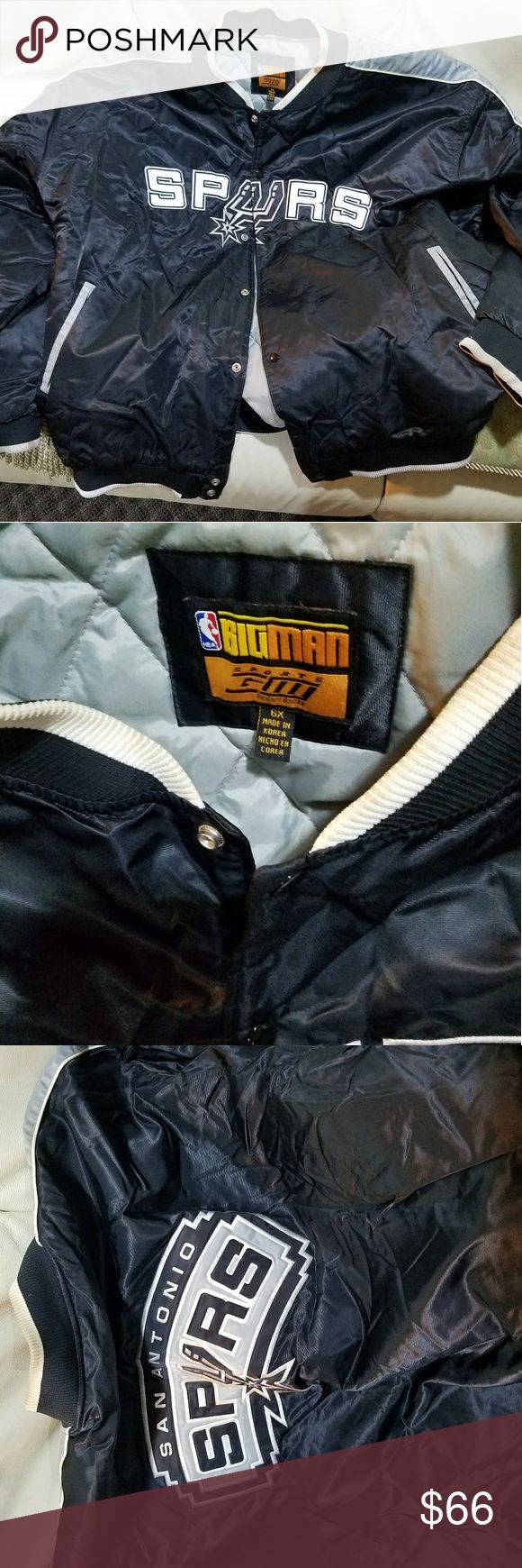 San Antonio Spurs Jacket 6X Good condition see pictures. Jackets & Coats Bomber & Varsity