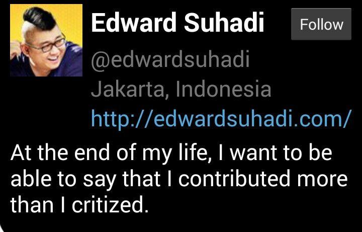 Suhadi's quote