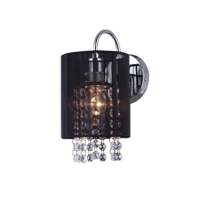 KINKIET ITALUX Lana MBM1787/1 BK :: ELTECH elektryczny oświetlenie