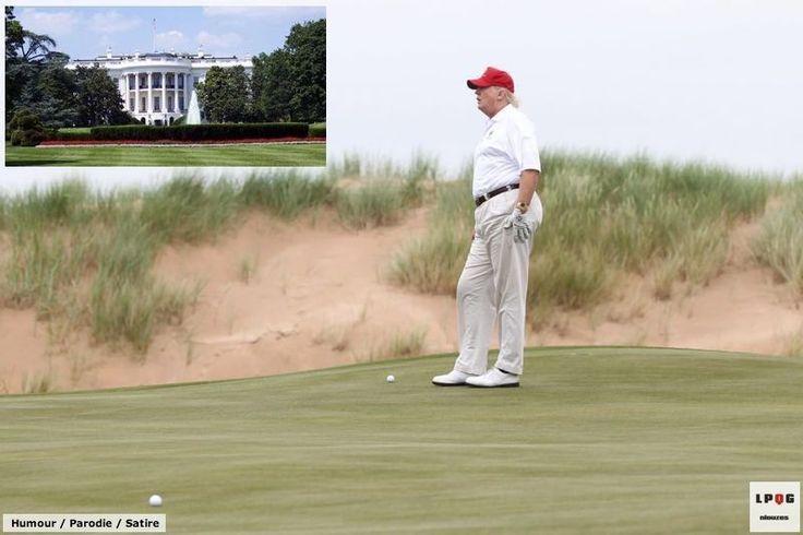 [LPQG Niouzes] Caisses vides Donald Trump déménage la Maison-Blanche sur son golf privé