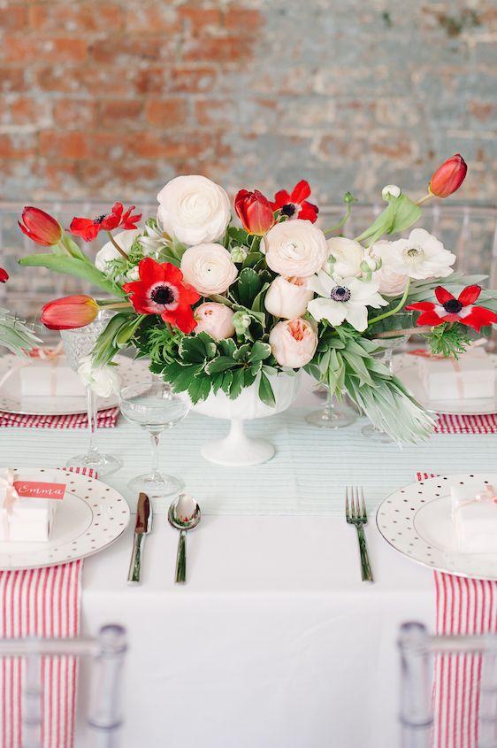 Poppy Red and Blush Bridal Shower Inspiration