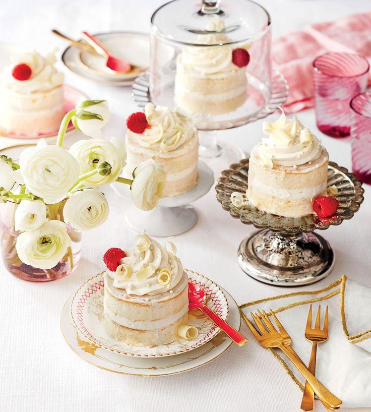 Buttermilk-Lime Mini Cakes with Vanilla-Mascarpone Buttercream Recipe (Southern Living Magazine)