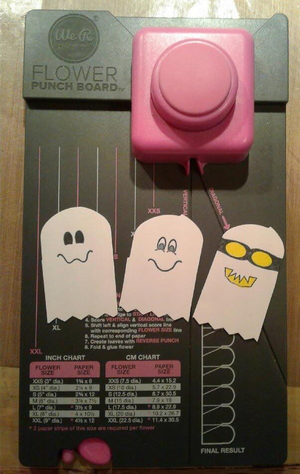 Tutorial  Make Ghost With The We R Memory Keepers Flower Punch Board Plu...