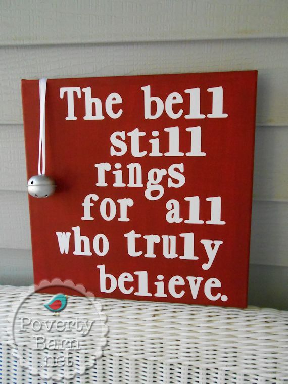 Polar Express Bell Still Rings Canvas Art NEW BELL by PovertyBarn