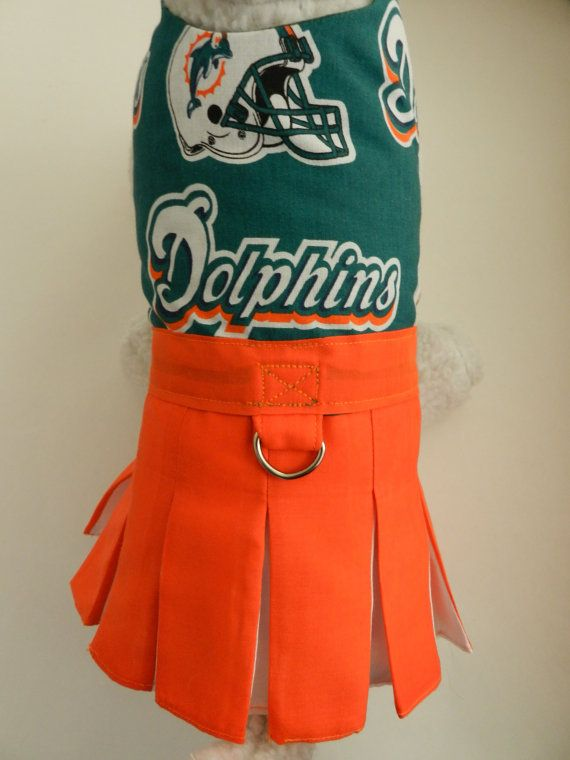 NFL+Football+Miami+Dolphins+Cheerleader+by+PamperedPupNStuff,+$32.99