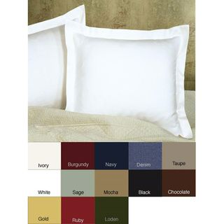 @Overstock.com - Update your bedding with this solid-colored tailored pillow sham, available in Euro size measuring 26 x 26. A choice of 12 different colors promises a good match with existing decor. The polyester and cotton blend fabric is machine washable.http://www.overstock.com/Bedding-Bath/Poplin-Tailored-Euro-Sham/4306130/product.html?CID=214117 $17.49