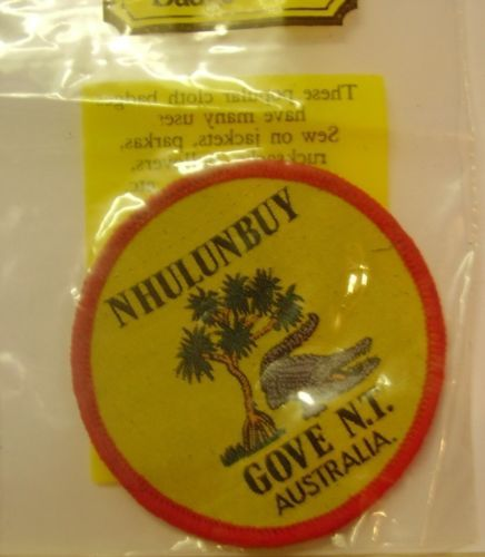 Vintage Souvenir Patch Nhulunbuy Gove N.T. Tree & Crocodile