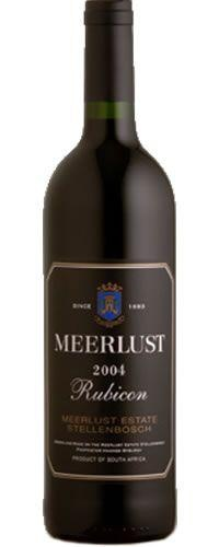 Meerlust Rubicon 2004 - just one of many splendid South African wines. We're spoilt for choice
