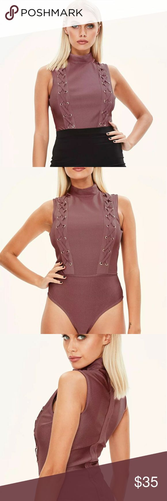 Missguided bandage bodysuit NWOT missguided US size 4 Missguided Tops
