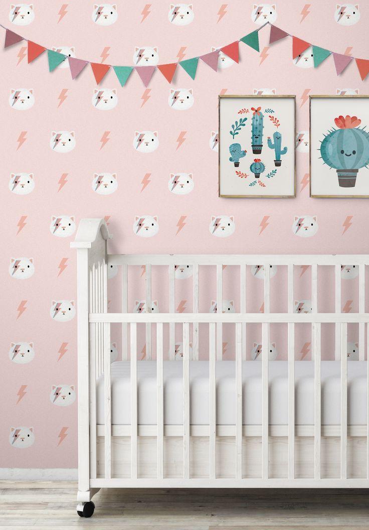 Le papier-peint Kitty StarDust, car le style n'a pas d'âge  #papierpeint #original #whitebed #confy #luxury #modern #bedroom #bathroom #Paris #Appartment #DIY #Renovation #Artisanal #Exclusif #Livingroom #idea #design #architecture #la #customize #wall #blog #décor #pattern #home #kids #enfant #kidsroom #rabbit #sticker #wallsticker #trendy #luminaire #tapis #enfance #nurserie #babyroom #renovation #fresque #autocollant #mur