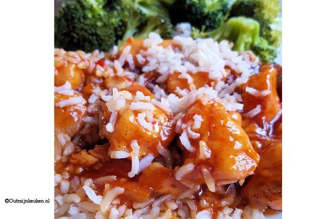 slowcooker recept kip sinaasappel gember saus