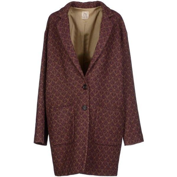 Attic And Barn Blazer ($160) ❤ liked on Polyvore featuring outerwear, jackets, blazers, coats, coats & jackets, maroon, pattern jacket, single breasted jacket, long sleeve blazer and maroon blazer